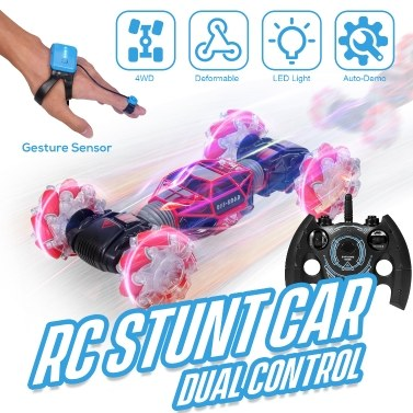 54% OFF 1/16 RC Stunt Car 4WD Watch Gest