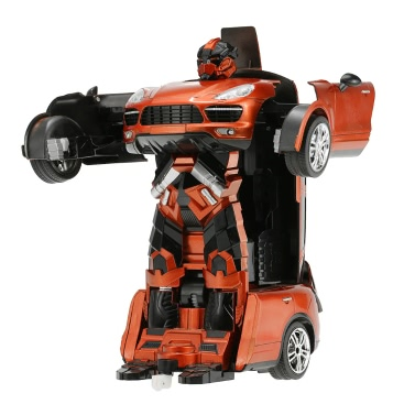 Original JIA QI TT664 2.4GHz Remote Control RC Robot Car One Key Transformation Autobot Deformtion Robot