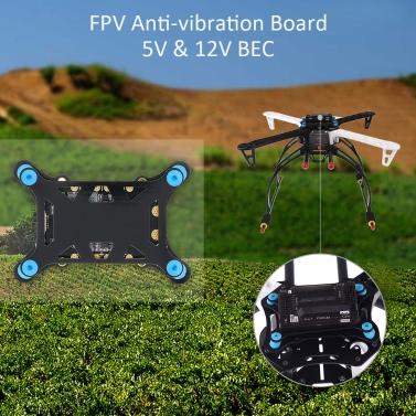 5 1 Super Shock Absorber Integrated Power Module ESC 5V 12V BEC Power Distribution Board APM/PX4 Flight Control