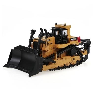 HUINA 1700 1:50 Schwerer Bulldozer-Engineering-LKW aus Aluminiumdruckguss
