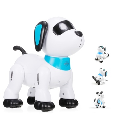 LE NENG K21 Electronic Robot Dog Stunt Dog Remote Control Robot Dog Toy Voice Control Programmable Music Dancing Toy