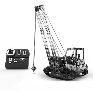 2,4 GHz 10 Kanal 1745PCS DIY Spielzeug RC Kran Bausteine RC Auto Edelstahl Baukran Montage Kits