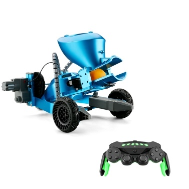 K1 2.4Ghz RC Robotic Arm Car Aluminum Alloy Remote Control Robot with Wheels DIY Building Toy