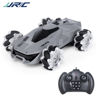 JJRC Q92 1:24 2.4G 4WD RC Stunt Car Remote Control Car 360°Rotation with LED Light and Music RC Car