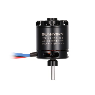 SUNNYSKY X2216 KV1400 II 2-4S Brushless Motor for RC Airplane Fixed-wing Aircraft