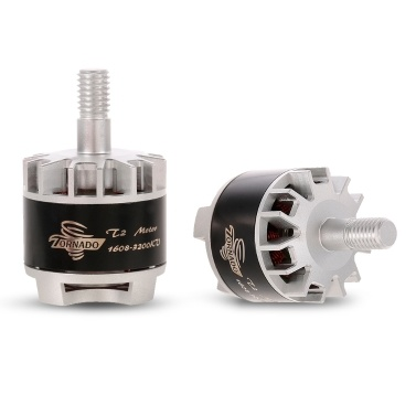 2pcs Brotherhobby Tornado T2 3-4S 1608 3200KV Brushless Motor CW/CCW for QAV130 150 RC FPV Quadcopter