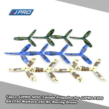 12pcs Original JJRC JJPRO 5050 3-blade Propeller Camouflage Pattern JJPRO-P200 Quadcopter GoolRC 210 QAV250 Runner 250 RC FPV Racing Drone
