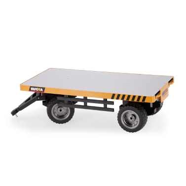HUI NA TOYS 1578 Flatbed Trailer Alloy Construction Engineering Vehicle Toy Gift