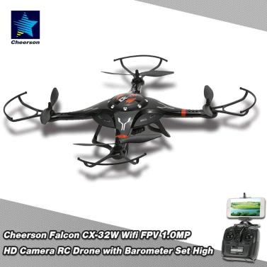 Original Cheerson CX-32W 4KANAL Wifi FPV 1.0MP Set HD Kamera RC Quadcopter mit einem Schlüssel Landung/Start und Barometer hoch