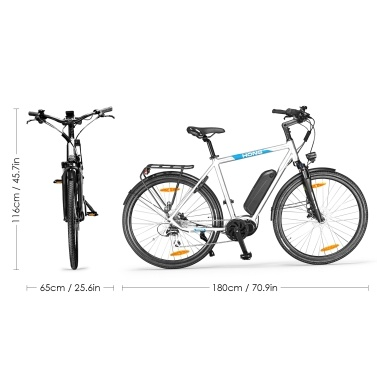 HONG CD01 27.5 Inch Electric Bike with 8 Speed Shifter For Men