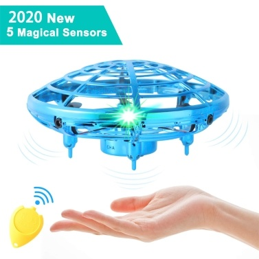 Mini Drone UFO Hand Operated RC Helicopter Drone Infrared Induction Aircraft Flying Ball Toys
