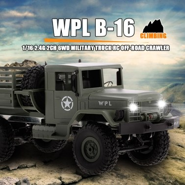 WPL B-16 1/16 Camion Militaire RC Crawler RTR