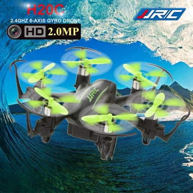 Original JJR / C H20C 2.4G 4CH 6 Axis Gyro RC Hexacopter Headless Modo Drone Auto-retorno com câmera 2.0MP