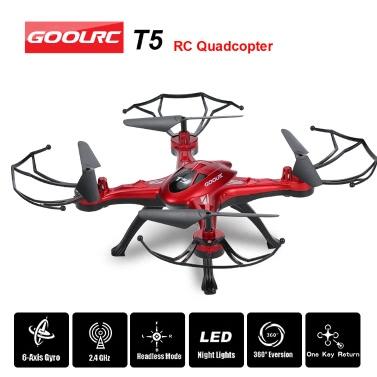 Ursprüngliche GoolRC T5 2,4 GHz 4-Kanal 6-Achsen-Gyro RC Quadcopter mit einem Return-Taste CF-Modus 360 ° Umstülpen Funktion
