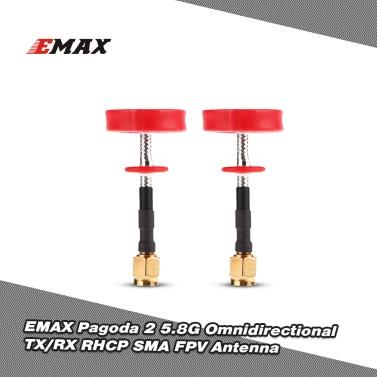 2Pcs EMAX Pagoda 2 5.8G Omnidirectional TX/RX RHCP SMA 50mm FPV Antenna  QAV250 RC Racing Drone Goggles