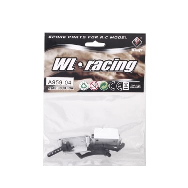 Original Wltoys A959 1/18 Rc Car Tail Wing Holder Set A959 04 Part for Wltoys RC Car Part