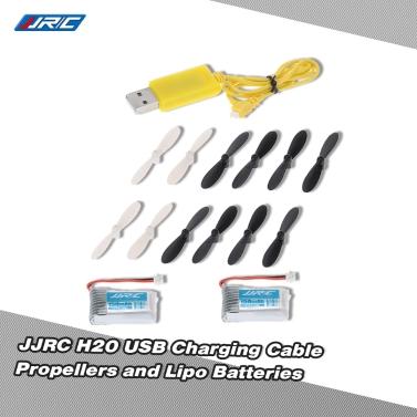 Original JJRC H20 RC Hexacopter Teil H20-06 Aufladen über USB Kabel H20-07 Propeller und H20-04 Batterien für JJRC H20 RC Hexacopter