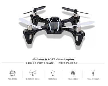 100% ursprüngliche Hubsan H107L X4 2.4G 4CH 6Axis RTF Radiosteuerung Mini-RC UFO Quadcopter Spielzeug (Hubsan X4 Quadcopter; H107 X4 Quadcopter, 2.4G 4CH Toys)