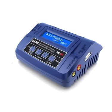SKYRC e680 80W AC/DC Balance Charger Discharger 13.8V DC Power Supply for LiPo Li-ion LiFe NiCd NiMH PB LiHV DJI Mavic Battery