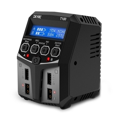 SKYRC T100 Dual Balance Charger 5A 100W AC100-240V XT60 Plug Dual Channel Charger