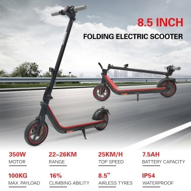 KUKUDEL 350W 8.5 Inch Two Wheel Folding Electric Scooter