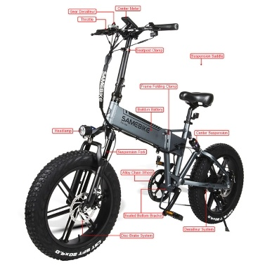 Samebike XWXL09 20 Inch Folding Electric Bike