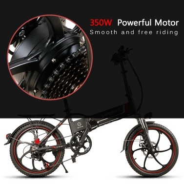 Samebike 20LVXD30  Electric Bike 48V 350W High Speed Brushless Gear Motor