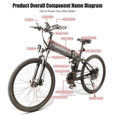 Samebike LO26 Electric Bike 500W 26 Inch Folding Electric Bicycle