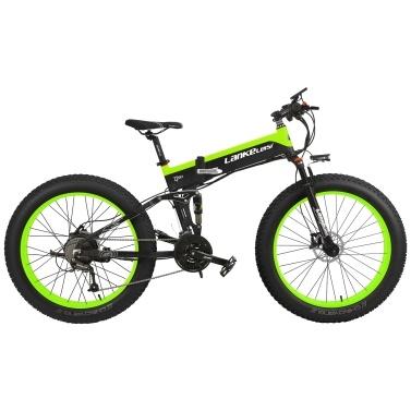 LANKELEISI XT750PLUS 26 Inch Folding Power Assist Electric Bike E-Bike 40km/h Top Speed 75 - 100km Range 500W