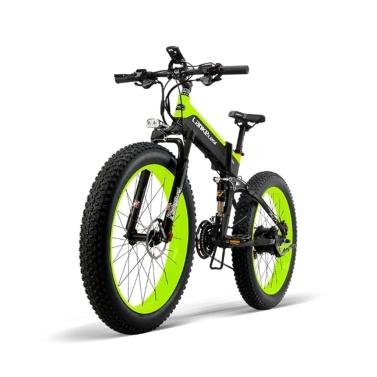 LANKELEISI XT750PLUS1000W 26-дюймовый складной электрический велосипед с усилителем мощности