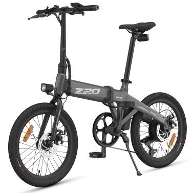 HIMO Z20 20-дюймовый складной электрический велосипед с усилителем мощности Диапазон 80 км 10AH Съемный аккумуляторный мопед E-Bike Электрический велосипед с брызговиком и насосом для накачивания