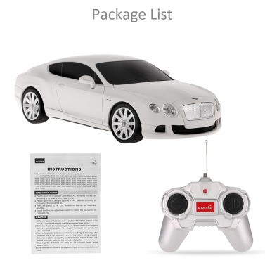 Original RASTAR 48600 R/C 1/24 Bentley Continental GT Speed Radio Control Car Toy Boys Gift