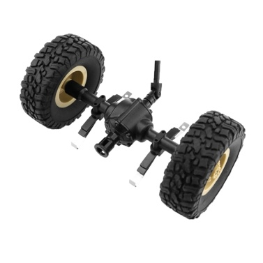 JJR/C Central Bridge Axle Shaft Assembly w/ Tire Wheel