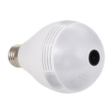 4 € de réduction pour KKmoon WIFI 1080PH LED ampoule avec 360 ° Mini Fish Eye View caméra seulement € 24,07