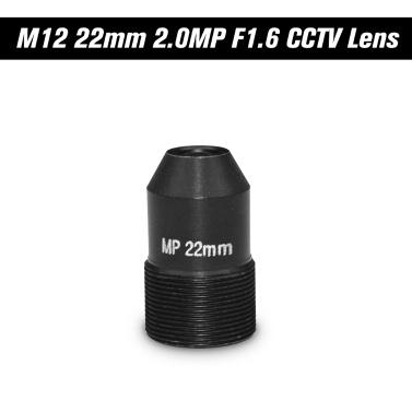 "HD 2.0 Megapixel Pinhole 22mm Objektiv CCTV MTV Board Objektiv M12 Mount Objektiv 1 / 2.7 ""Bildformat Blende F1.6 für Überwachung Überwachungskamera"