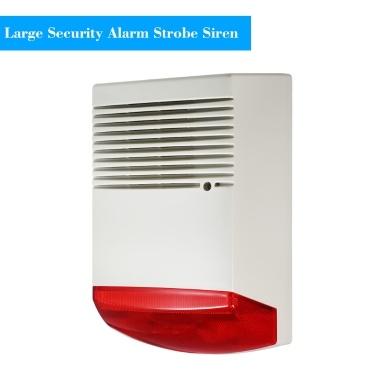 Wired Strobe Sirene Sound Licht Alarm Red Taschenlampe Horn 120dB Laut Alarm Sound Lautsprecher Im Freien Wasserdicht für Intrusion Safety & Fire Alarm