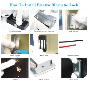 60KG/132lb Electric Magnetic Lock Fail Secure NC 12V for Door Entry Access Control System