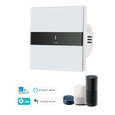 31% OFF Wifi Touch Switch Touch Screen LED Light Wireless 1 Gang,limited offer $14.99