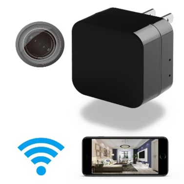 Adattatore da parete Wireless Mini USB Camera HD 1080P WIFI