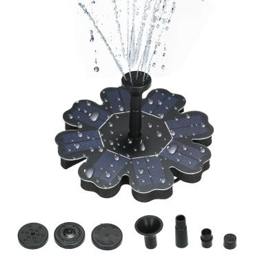 """Bomba de agua de ahorro de energía de panel solar en forma de flor de fuente de energía de 160 mm / 6.3 """""""