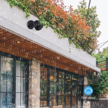 2PCS / Set Wandhalterung für YI-Heimkamera Wandmontage 360-Grad-Schwenkhalterung Gehäuseabdeckung für YI 1080p / 720p-Heimkamera Außen- und Innenwetter Wetterfest, Weiß
