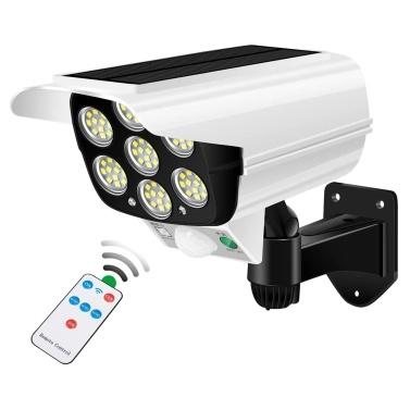 LED Solarleuchten Außenbewegungssensor Gefälschte Überwachungskamera Licht