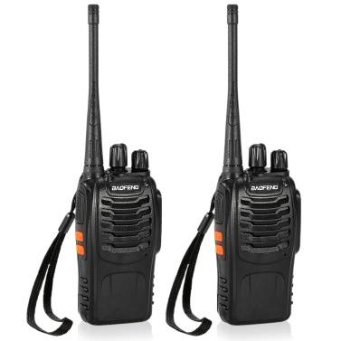 BaoFengu00ae 16CH FM UHF 400-470MHz Talkie Walkie Transceiver
