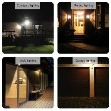 Solar PIR Motion Sensor Energy Saving Sensor Night Lights