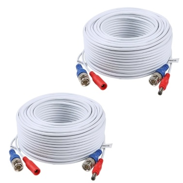 1Pack 100ft /30m 2-in-1 Video Power CCTV Cable BNC Extend Cord