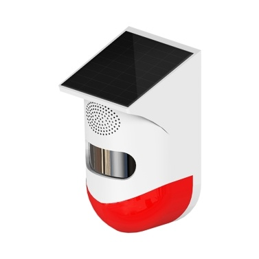Solar Powered Wireless Independent Infrared Motion Sensor Detector