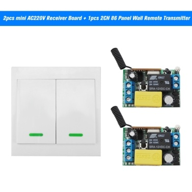Interruptor de control remoto inalámbrico 2PCS