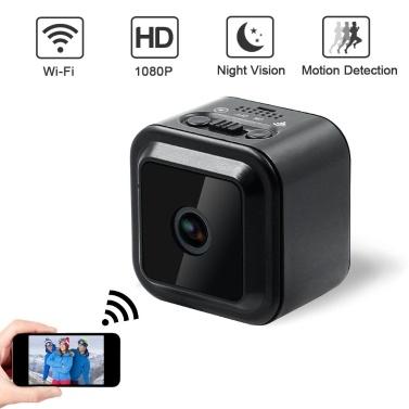 CACAGOO Mini WIFI Versteckte Kamera, 1080P Wireless Small Indoor Home Überwachungskameras Nanny Cam mit Bewegungserkennung und Nachtsicht
