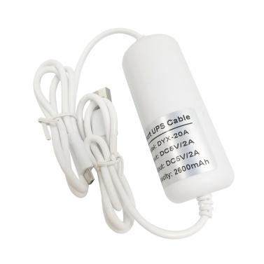2600mAh de secours UPS Security Camera Power Bank Chargeur USB UPS Cable