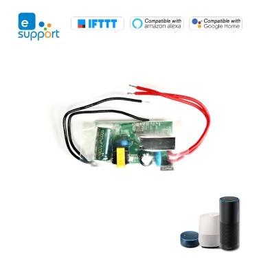 Módulo WIFI eWelink Single Live Wire 180-240V Interruptor Wifi Temporizador Interruptor de luz inalámbrico Módulo de control remoto Control de aplicación Compatible con Alexa y Google Home